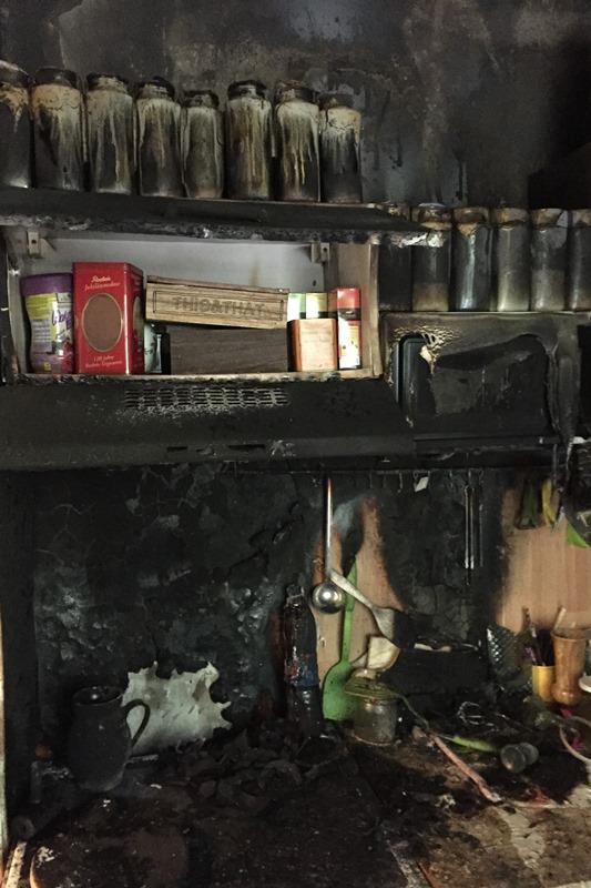 Brand in einem Einfamilienhaus