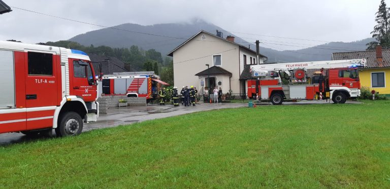 Fassadenbrand in Weyer