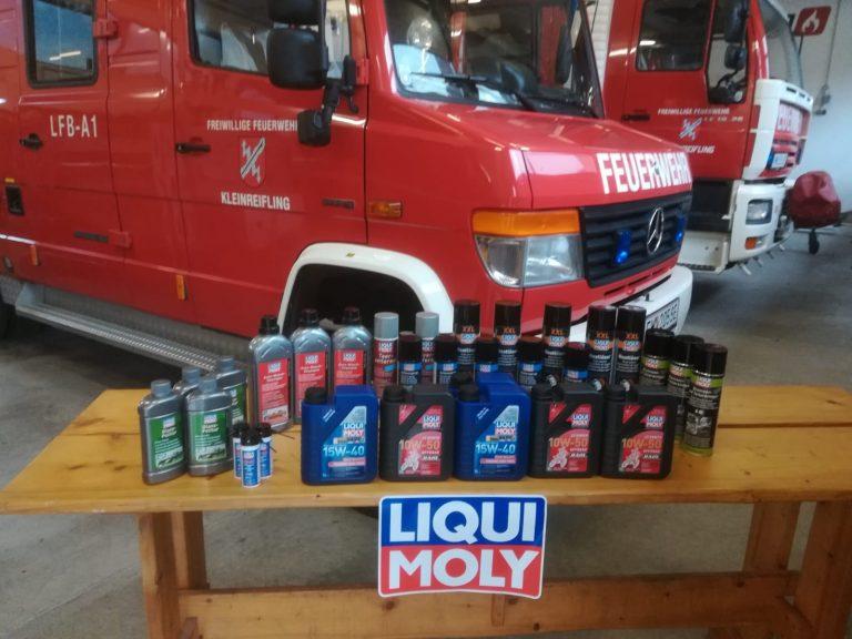 Spendenlieferung von Firma LIQUI MOLY